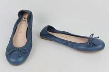 Ballerinas UNISA Blaues Leder T 38 TOP ZUSTAND