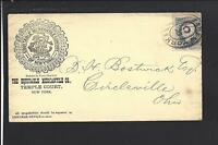 NEW YORK, NEW YORK, 1CT BANKNOTE S.O.N. CL, ADVT.  THE EQUITABLE MERCANTILE CO.