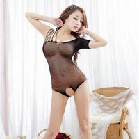Woman Black Hot G-String Sexy Lingerie Lace Dress Babydoll Sleepwear Underwear