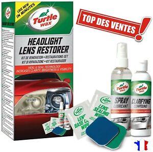 Kit Renovation Phare Voiture Renovateur  Optique Plastique Auto Moto Pro Facile