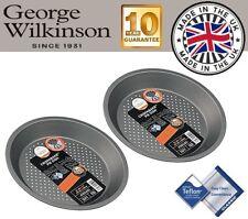 2 x George Wilkinson Progress 22cm Non Stick Teflon Vented Bottom Pie Tart Dish