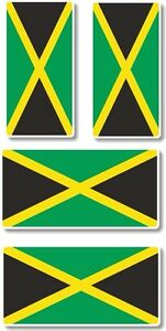 Vinyl sticker/decal Extra small 45mm & 35mm Jamaica flags - group of 4