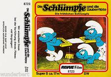 *-  Super 8 - Die SCHLÜMPFE und die ZAUBERFLÖTE -   ca 17 m SW  REVUE-Film 8723