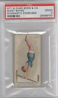 1887 N77 Duke Cigarettes Gymnastic Exercises Giant Swing Graded PSA 2