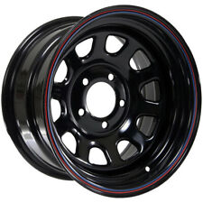 """American Racing AR767 15x8 5x5.5"""" -12mm Black/Stripes Wheel Rim 15"""" Inch"""