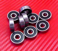"4pcs R6-2RS (3/8"" x 7/8"" x 9/32"") Black Rubber Sealed Ball Bearing Bearings R6RS"