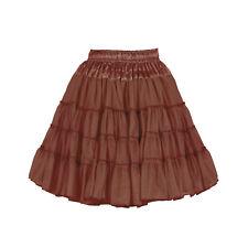 Reh Rentier Petticoat Tütü Tüllrock Saitn Kostüm knielang BRAUN 2-lagig Damen