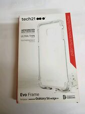 Tech21 GENUINE Evo Frame Shockproof Clear Case for Samsung Galaxy S6 edge+ Plus