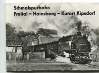 uralte AK Schmalspurbahn Freital-Hainsberg-Kurort Kipsdorf 6 Karten in Mappe//06