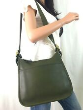 COACH Vintage Olive Green Leather Classic Legacy Shoulder Crossbody Bag #9966