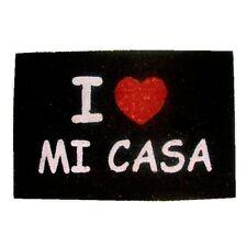 FELPUDO I LOVE MI CASA NEGRO ENTREGA 24/48 HORAS.