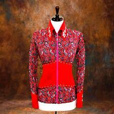 LARGE  Western Showmanship Pleasure Horsemanship Show Jacket Shirt Rodeo Queen