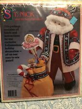 "NEW Daisy Kingdom ""St Nick & His Bag of Goodies"" Sewing Fabric Panel Kit"