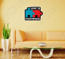 "Love Is Everywhere Puzzle Sex Adult Wall Sticker Room Interior Decor 20""X25"""