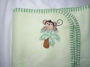 Parent's Choice Green MONKEY Baby Blanket Fleece Lovey NWOT Walmart Jungle NEW
