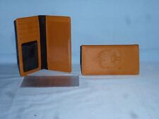 "CALGARY FLAMES   ""glove""  Leather Checkbook NEW  tan  bb"
