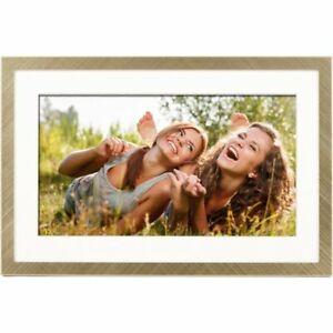 "Polaroid 074-15-3693 Digital Frame with Mat Brushed Gold Metal 10"""