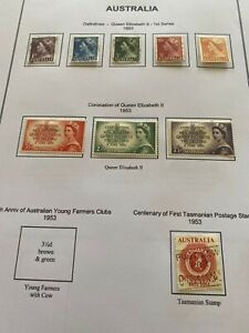 Australia 60 stamps on 14 album pages
