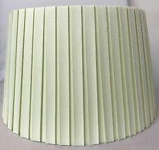 """10"""" Cream Box Pleat Empire Drum Table Lamp Shade"""