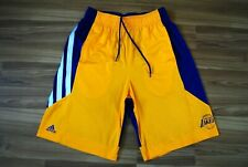 LA LAKERS SHORTS ADIDAS NBA BASKETBALL YELLOW SWINGMAN ADULT SIZE MENS MEDIUM