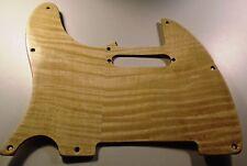 NEW PICKGUARD TELECASTER bois flamed plastifié LH GAUCHER  pour Fender