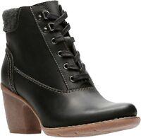 Women's Clarks Artisan Collection Carleta Crane Lace Zip Boot Black 26128813