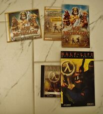 Half Life Counter Strike PC  Game 2000 + Age of Mythology 1997 ( 2 CD's ) keys