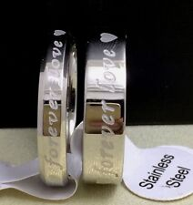 20 X Couples rings Silver Wedding Men Women 316L Stainless Steel Rings wholesale