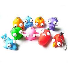 1X Raised Eyes Doll Anti Stress Ball Vent Animal Keychain Squeezing Toys P RI