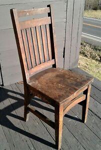 Antique Heywood Wakefield Tiger Oak Childs Chair 1920s Era