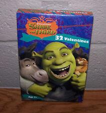 Valentines Day Cards (Box of 32) Dreamworks Shrek The Third
