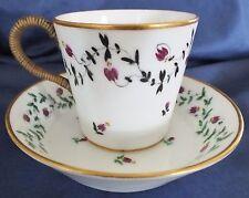 Paris Porcelain Rue Thiroux Leboef Cup & Saucer c.1780