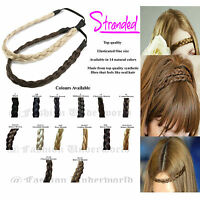 TOP QUALITY PLAITED HEADBAND BRAIDED HAIR PIECE PLAIT 14 COLOURS AVAILABLE