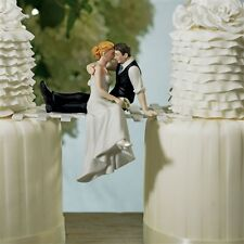 The Look of Love Couple Romantic Wedding Cake Topper