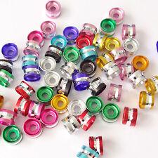 200 mixte 4x6mm aluminium tube spacer beads
