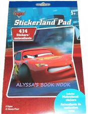 DISNEY PIXAR CARS ~STICKERLAND PAD With 414 STICKERS~