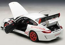 Autoart PORSCHE 911 997 GT3 RS 3.8 CARRERA WHITE W/ RED STRIPES 1/18 In Stock!