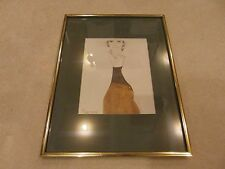 Color Pencil Drawing Of Women In Dress Very Detailed Face Approx. 12 X 16 32944