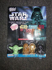 1996 Topps Star Wars Candy Containers and 10 Collector Cards NEW