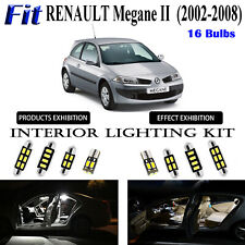 16pcs White LED Interior Dome Light Kit For Renault Megane II 2002-2008 Package