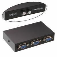 1*2 2 Port Monitor VGA SVGA Video LCD Splitter Switch Box Adapter