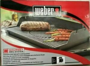 New~Genuine Weber 7586 3-pc Stainless Steel Grate Set Gourmet BBQ System