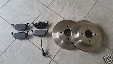 SKODA OCTAVIA MK 2  04 -11 TWO FRONT VENTED BRAKE DISCS AND BRAKE PADS LH AND RH
