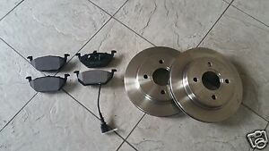 VW UP  11-17 TWO FRONT 280 MM VENTED BRAKE DISCS & A SET OF FOUR BRAKE PADS