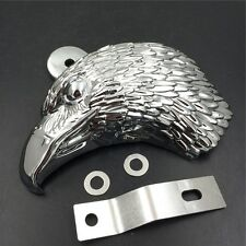 "Chrome Eagle head horn cover For 92-16 Harley w/side mount ""cowbell"" all V-rod's"
