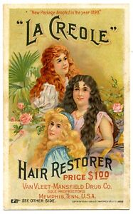 """LA CREOLE"" HAIR RESTORER - Quackery!"