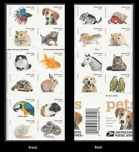 US 5125a Pets forever vert gutter booklet 20 MNH 2016