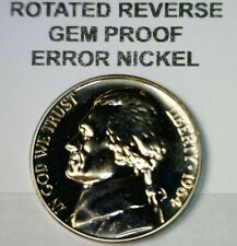1964 ERROR ROTATED REVERSE Jefferson Nickel GEM PROOF Coin LOT #24 NR