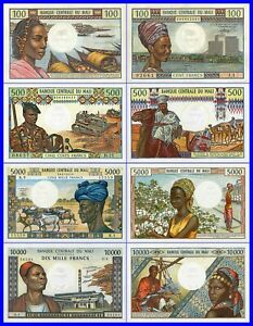 MALI- LOT  FRANCS- 4 PIECES-UNC.---COPY--REPRODUCTIONS--COPY--NOT ORIGINAL--COPY