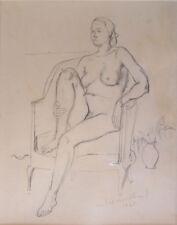 André MARCHAND (1907-1997) Dessin 1945 Nu / Nle Ecole de Paris Jeune Peinture